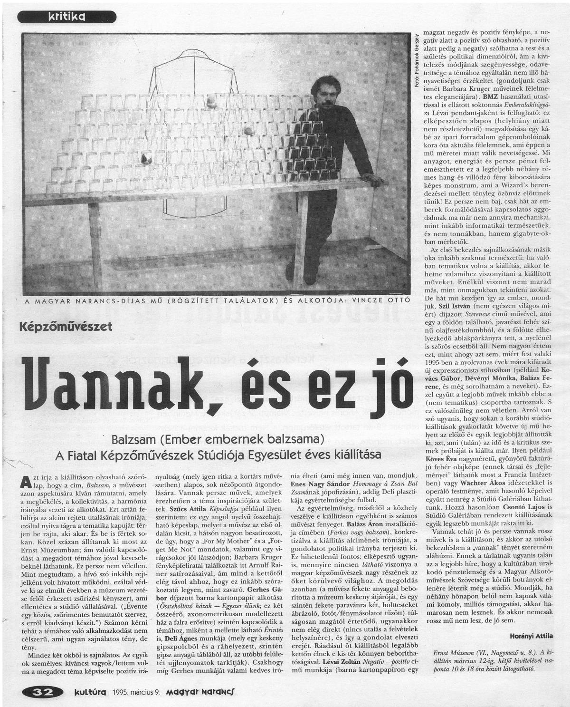 Horányi Attila: Vannak, és ez jó, Magyar Narancs, Kritika