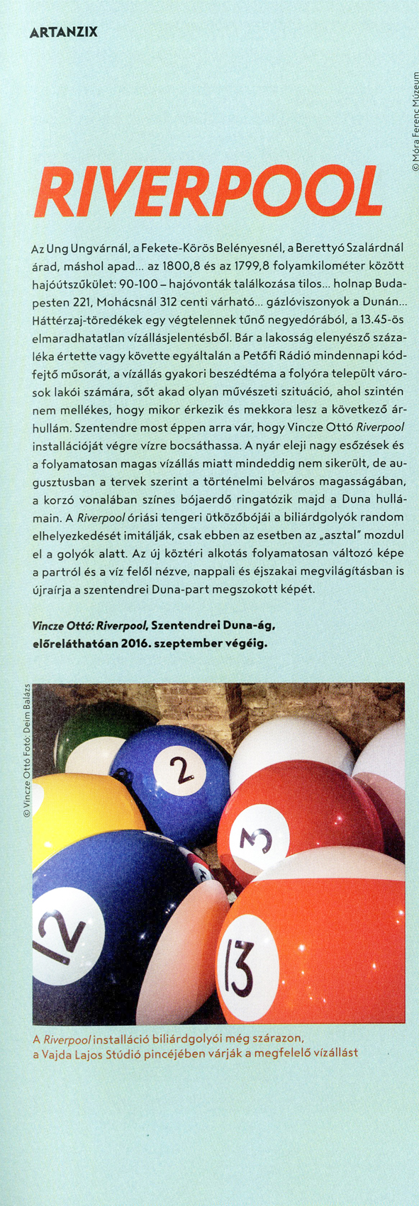 Artmagazin, Artanzix, kiállításajánló